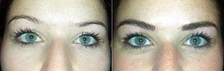 """Permanent Make Up: Augenbrauen """"Vorher-Nachher"""""""